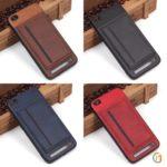 Чехол с карманом под пластиковые карты для Xiaomi Redmi 5A, арт.010459 (Темно-синий)