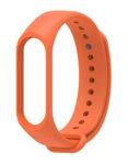 Силиконовый ремешок для Xiaomi Mi Band 3 / Mi Band 4 (Оранжевый)