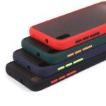 Матовый чехол ТПУ с цветными бортиками для Xiaomi Redmi 7A, арт. 011417 (Темно-синий)