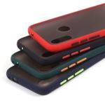 Матовый чехол ТПУ с цветными бортиками для Xiaomi Redmi Note 7/7 Pro, арт 011417 (Черный)