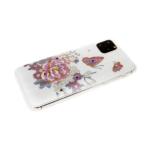 Силиконовый чехол Xiaomi Redmi 7a цветочный принт с блестками и стразами, цветок с бабочкой