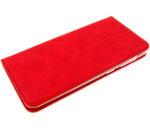 Чехол-книга «Эко-кожа с прострочкой»,  Xiaomi Redmi Note 9 красная