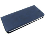 Чехол-книга «Эко-кожа с прострочкой»,  Xiaomi Redmi Note 9 темно-синяя