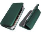 Чехол-книга Fashion Case Xiaomi Redmi 9c с силиконовым основанием и магнитом, изумрудный
