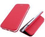 Чехол-книга Fashion Case Xiaomi Redmi Note 9S с силиконовым основанием и магнитом, красный
