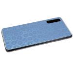 Силиконовый чехол Xiaomi Redmi Note 8T леопардовый принт хамелеон, прозрачный борт, голубой